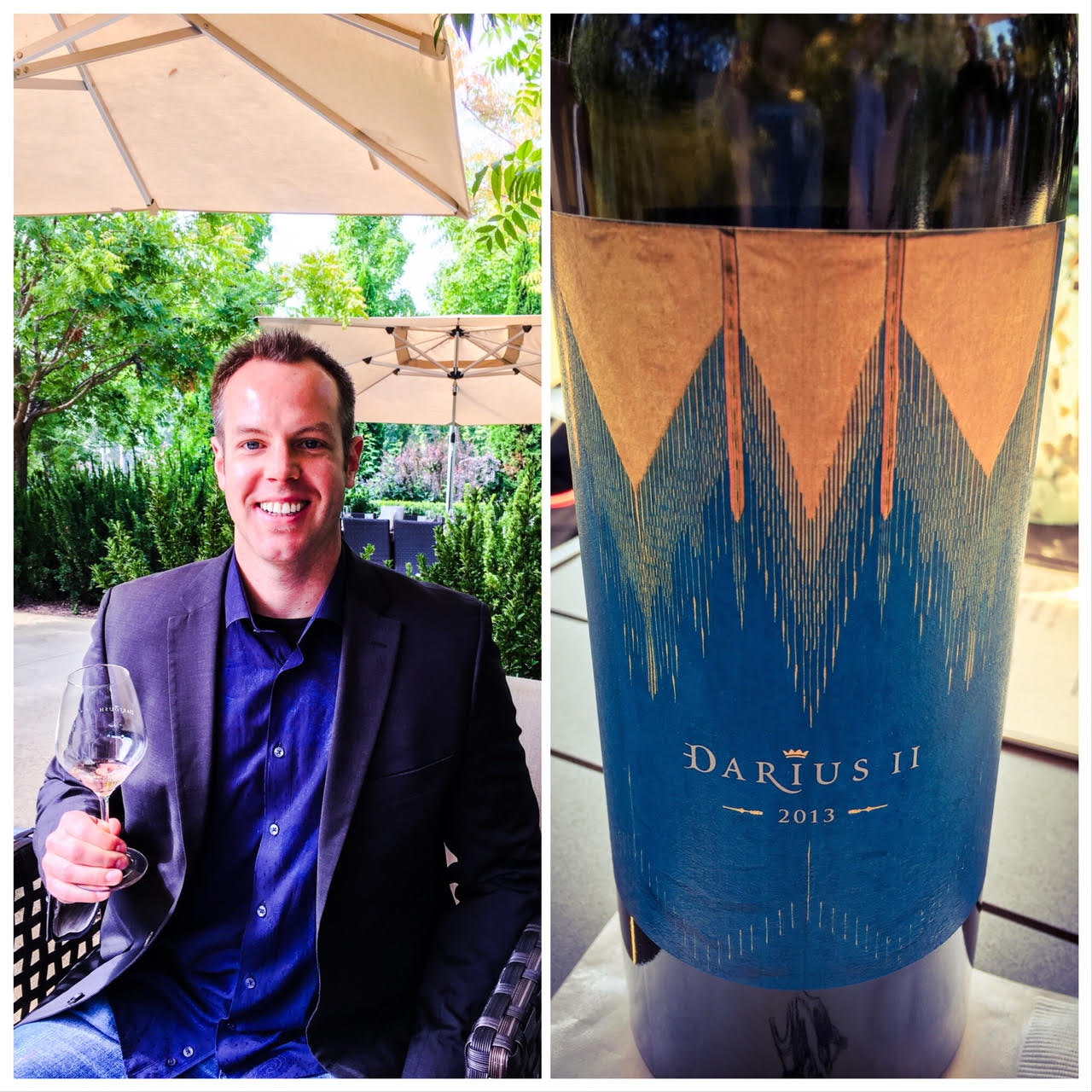 It was a marvelous day tasting at one of the most beautiful wineries in California, Darioush.