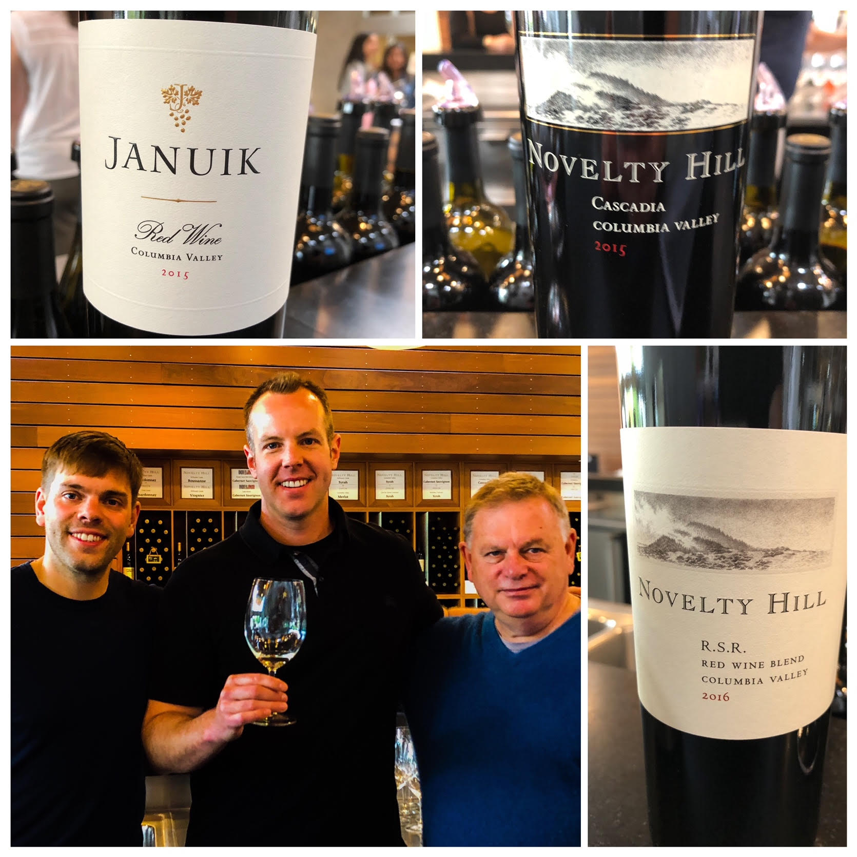 It was a marvelous opportunity to catch up with Mike and Andrew Januik, co-winemakers at one of Washington's outstanding lineups of red and white wines, Januik and Novelty Hill.