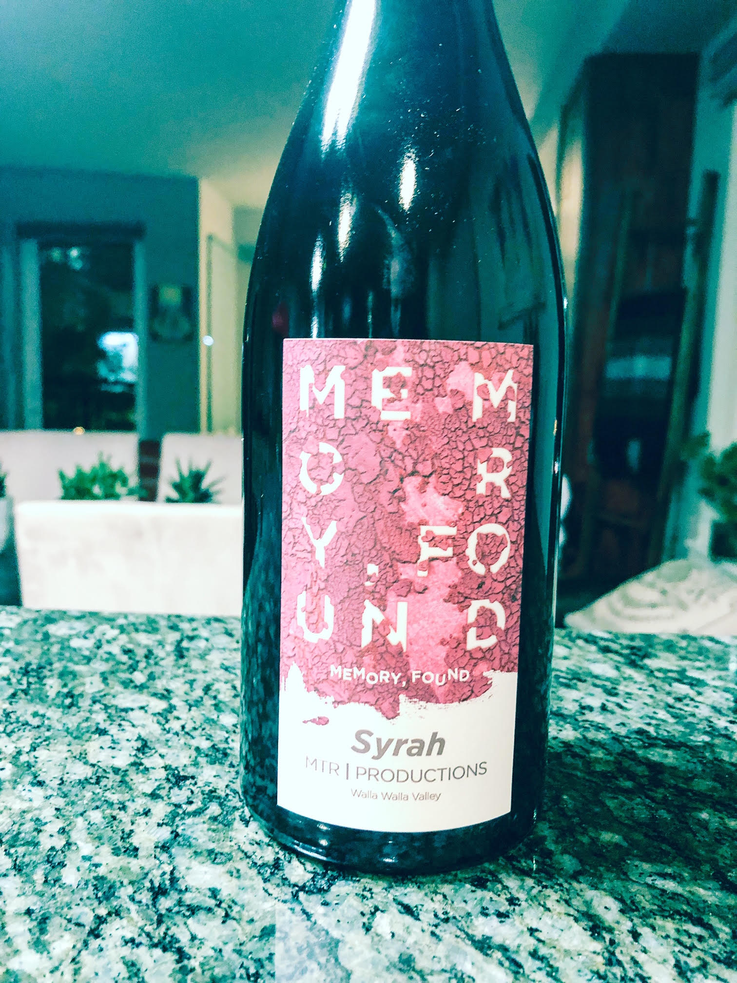 The 2013 MTR Productions 'Memory Found' Syrah is a head-turning wine that shows wonderful poise, salinity and stony terroir.