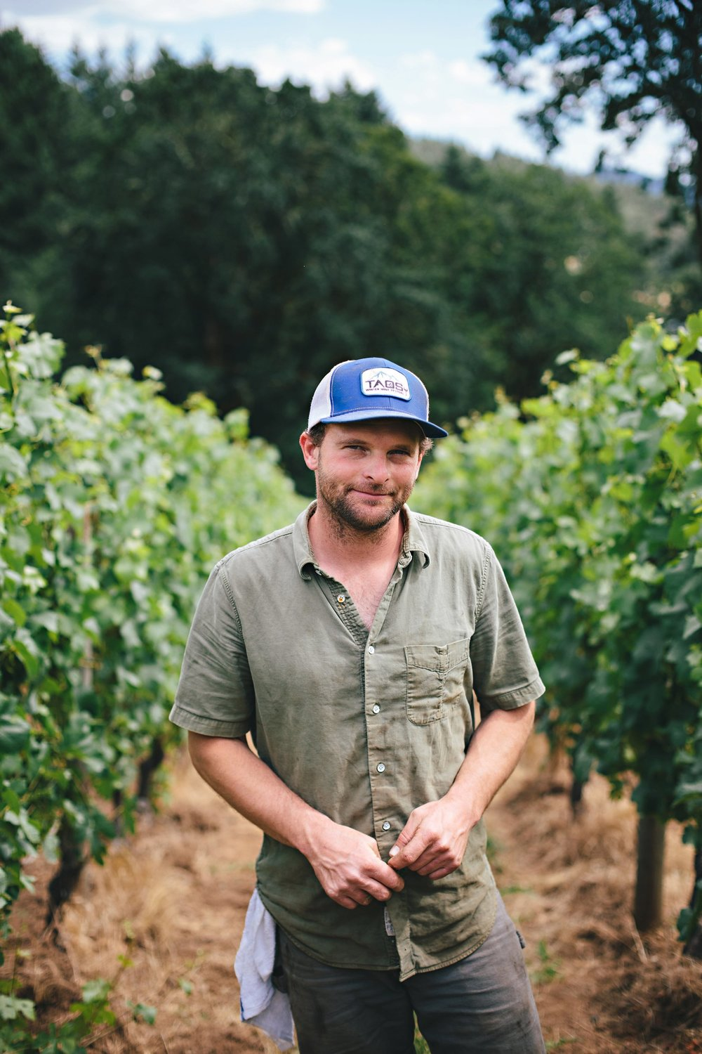 Great photo here of Beaux Freres head winemaker, Mike Etzel.