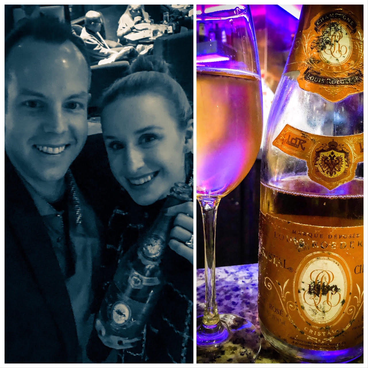 We celebrated in style with the 1999 Louis Roederer 'Cristal' Champagne