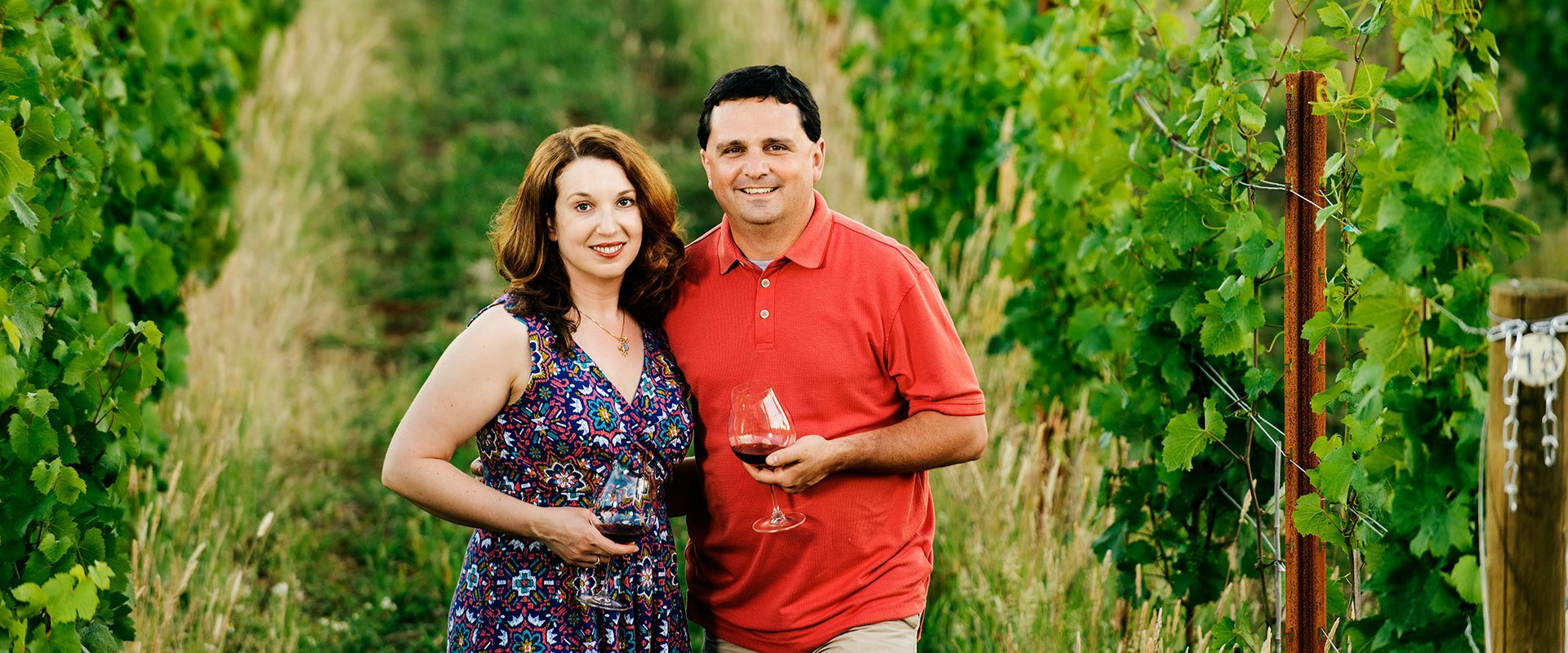 Great photo here of Sara and Dave Specter, founders of Bells Up Winery.