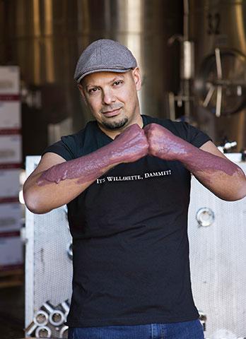 Great photo here of eminent Oregon winemaker at Willamette Valley Vineyards, Joe Ibrahim.