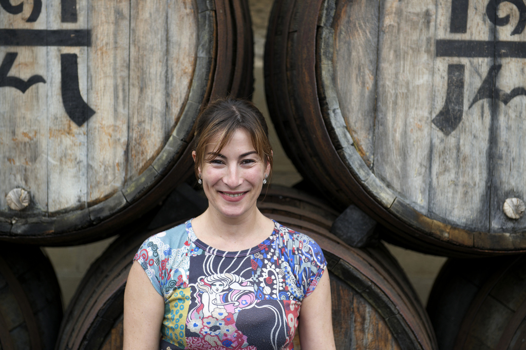 Great photo here of Mercedes Lopez de Heredia, winemaker at R. Lopez de Heredia (photo by Tim Akin, MW).