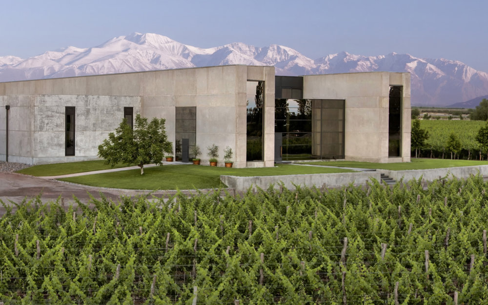 The Viňa Cobos winery is a state of the art facility in Mendoza.
