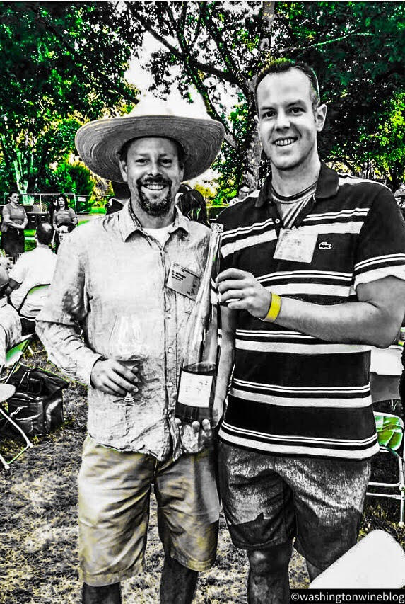 Here I am pictured with one of the great winemakers in Oregon, Brian Marcy (L) of Big Table Farm.