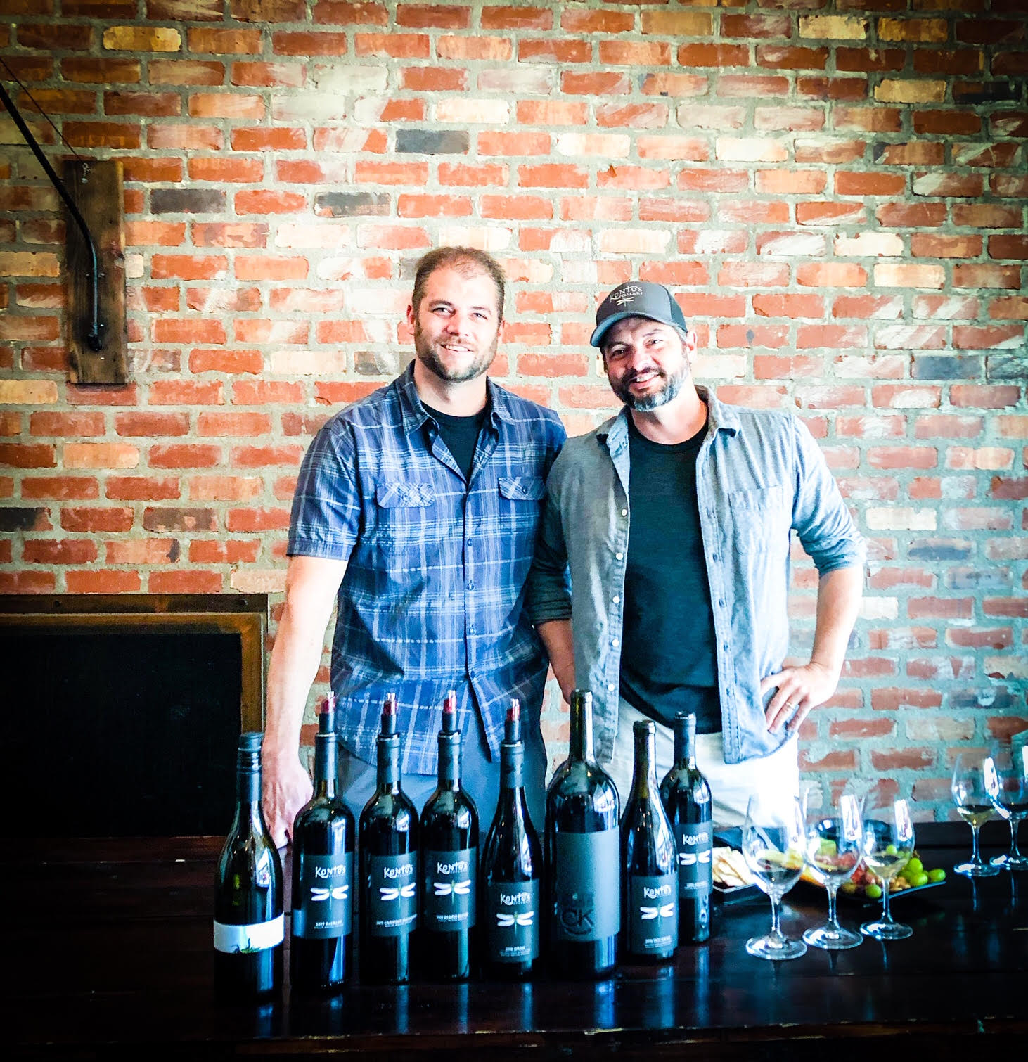 Pictured here are two of the nicest people in Washington wine, Cameron (L) and Chris Kontos.