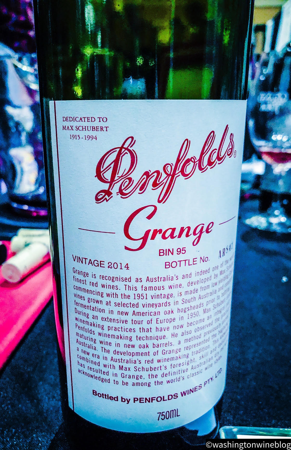 The 2014 Penfolds 'Grange' Shiraz (WWB, 98) is one of the iconic wines of the world.