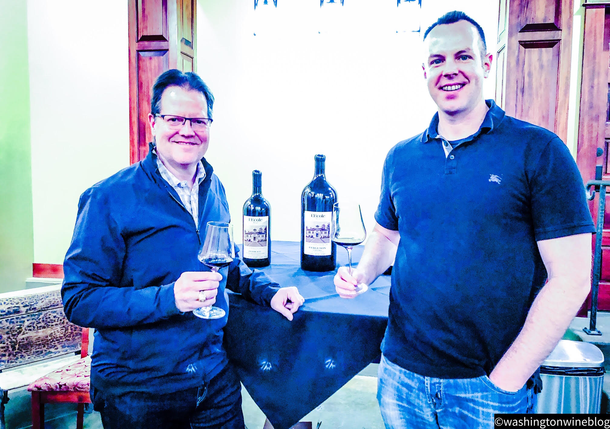 It was a fantastic occasion tasting through a beautiful range of red wines with owner/winemaker Marty Clubb (L) at L'Ecole No. 41.