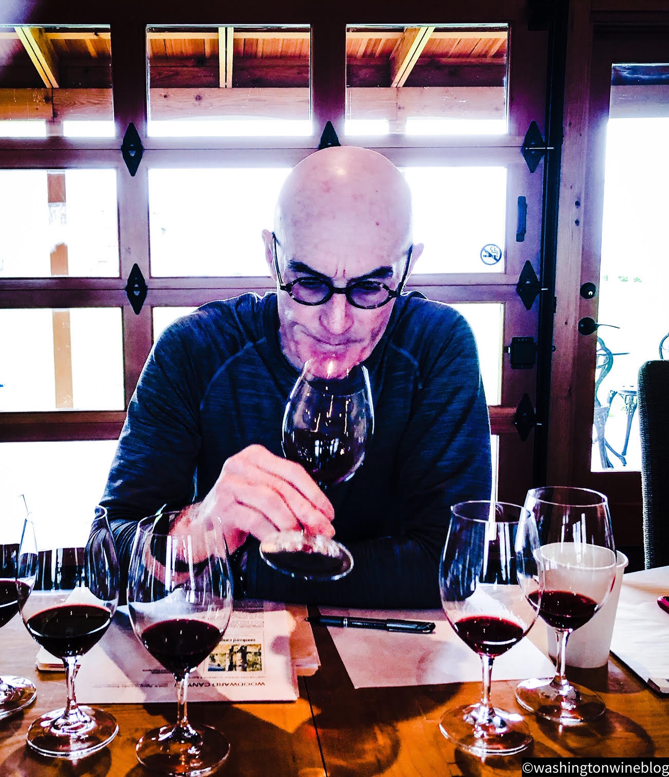 Washington wine pioneer, Rick Small, led us on a magical journey into his Woodward Canyon 'Artist Series' wines.