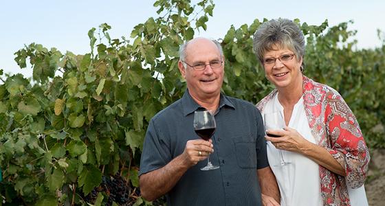 Great photo here of Gordon Estate founders, Jeff and Vicki Gordon.