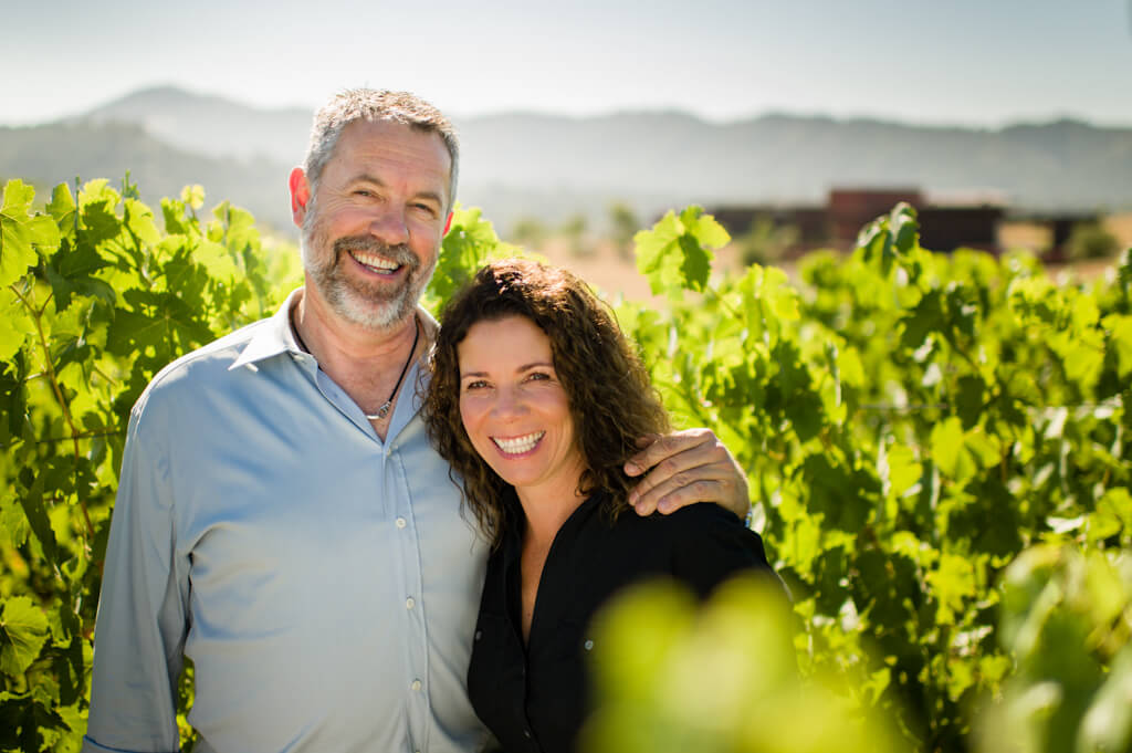 Beautiful photo here of Manfred and Elaine Krankl, iconic producers of their Sin Qua Non wines.