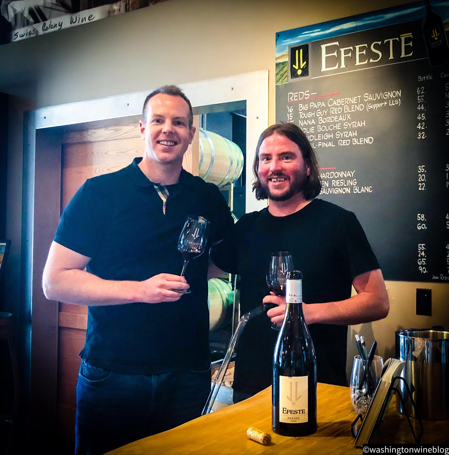 Here I am with the talented Mark Fiore (R) at EFESTE.