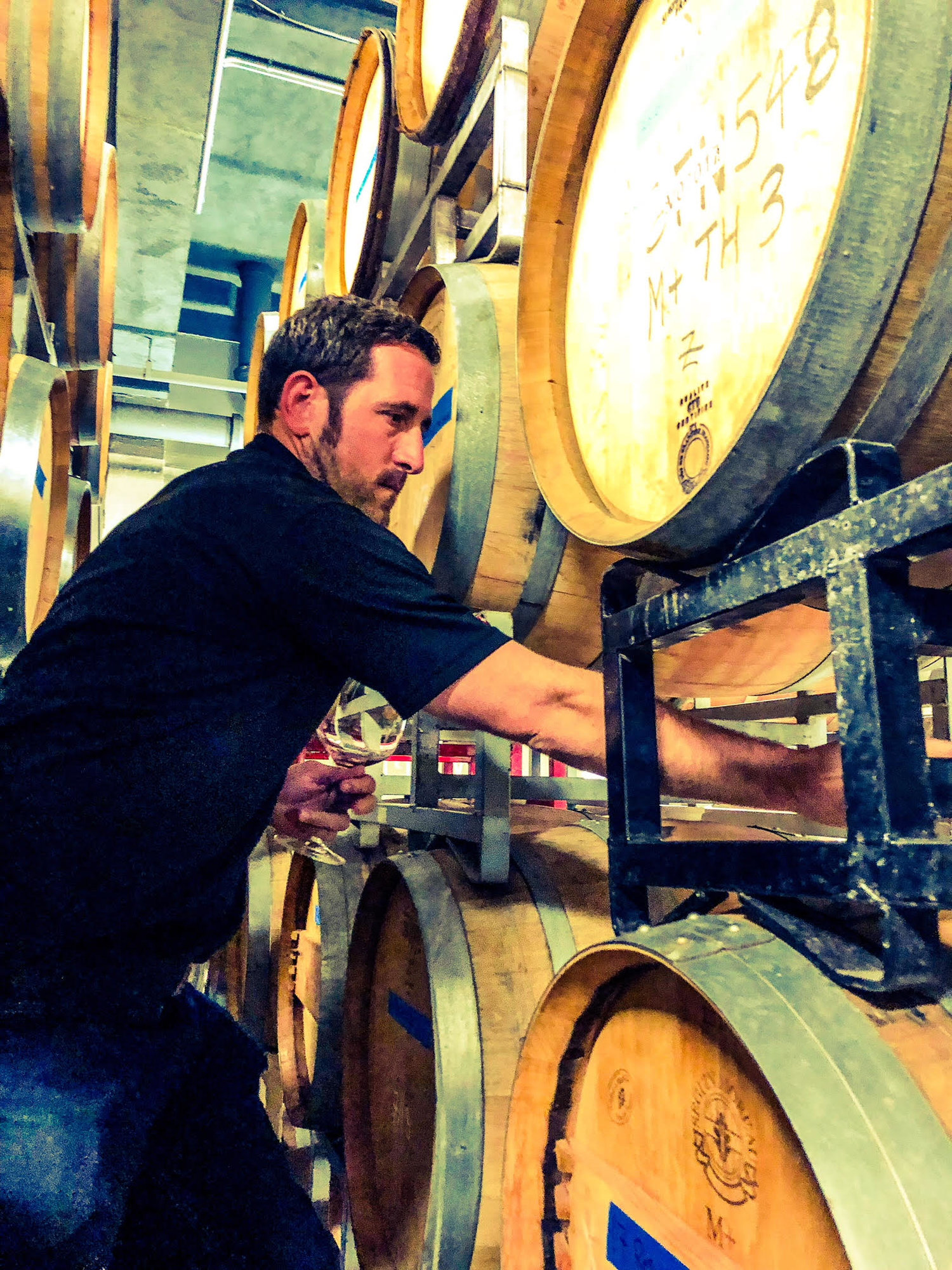 Great photo here of the talented Ryan Crane, founder of Kerloo Cellars.