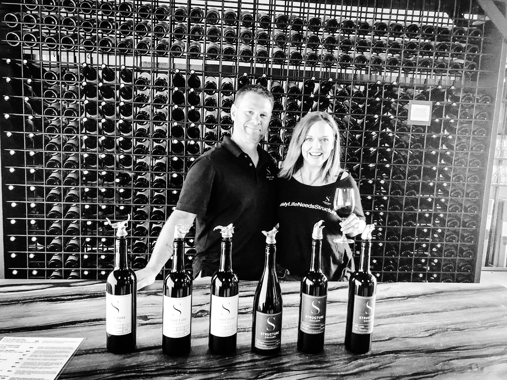 Some of the great people in Washington Wine, Structure Cellars was founded by Brian Grasso and Brandee Slosar.