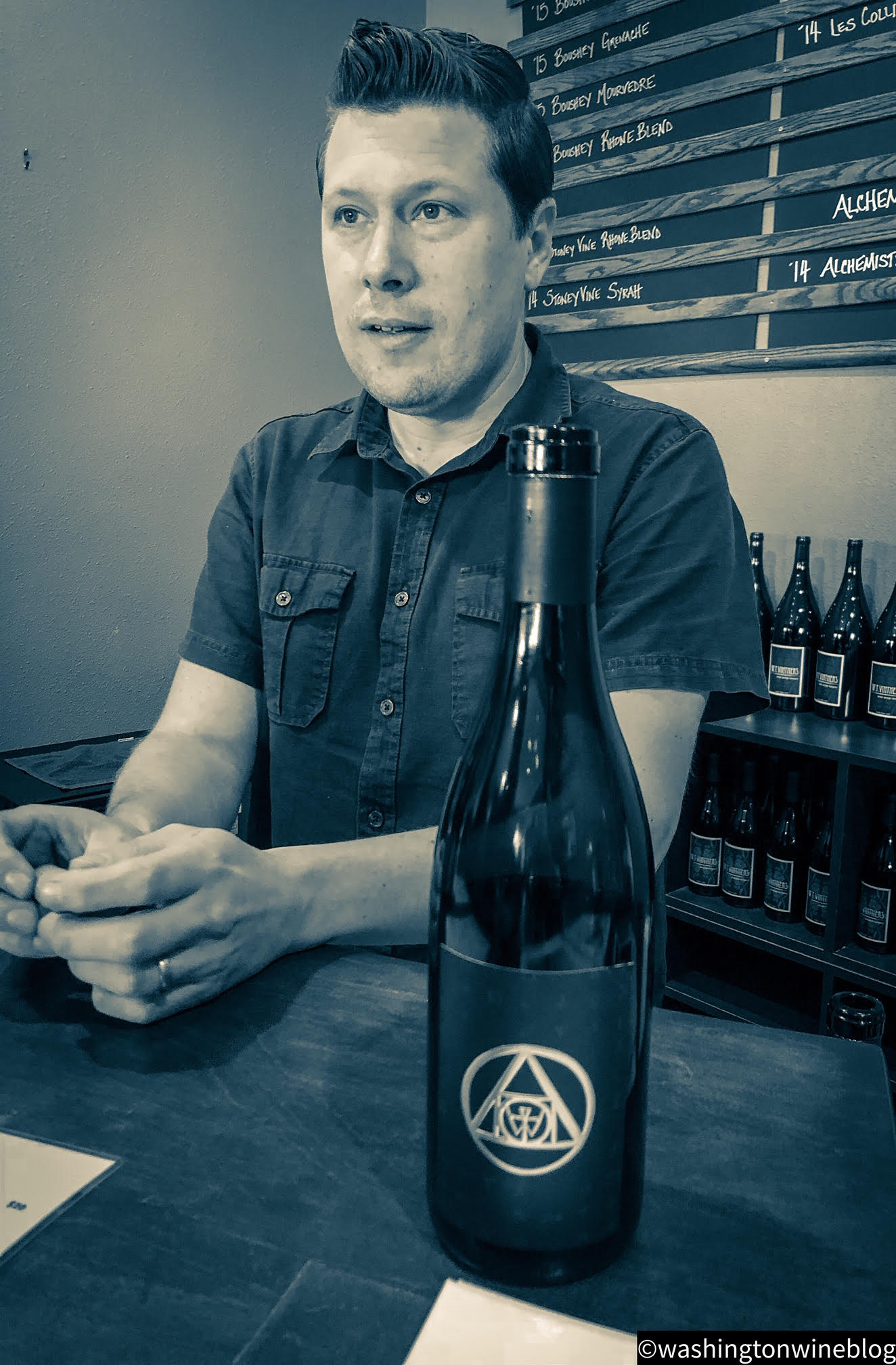 Here we have one of the great talents in Washington wine, advanced sommelier and W.T. Vintners winemaker, Jeff Lindsay-Thorsen.