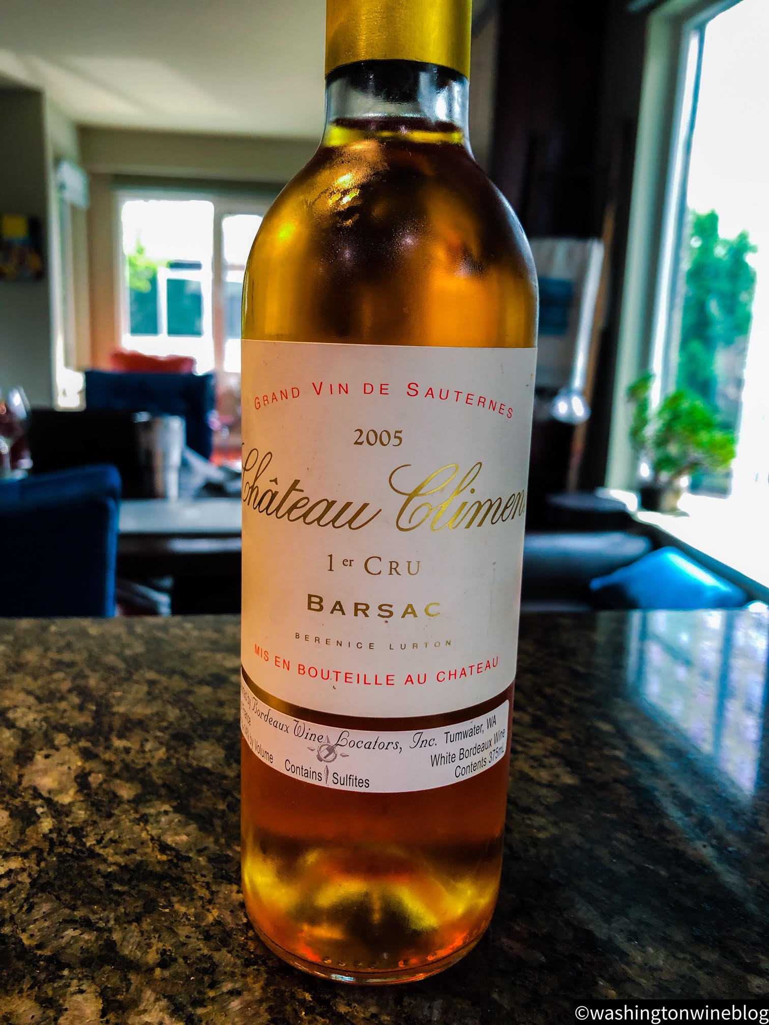 The 2005 Chateau Climens (WWB, 100) is nothing short of perfection in a bottle.