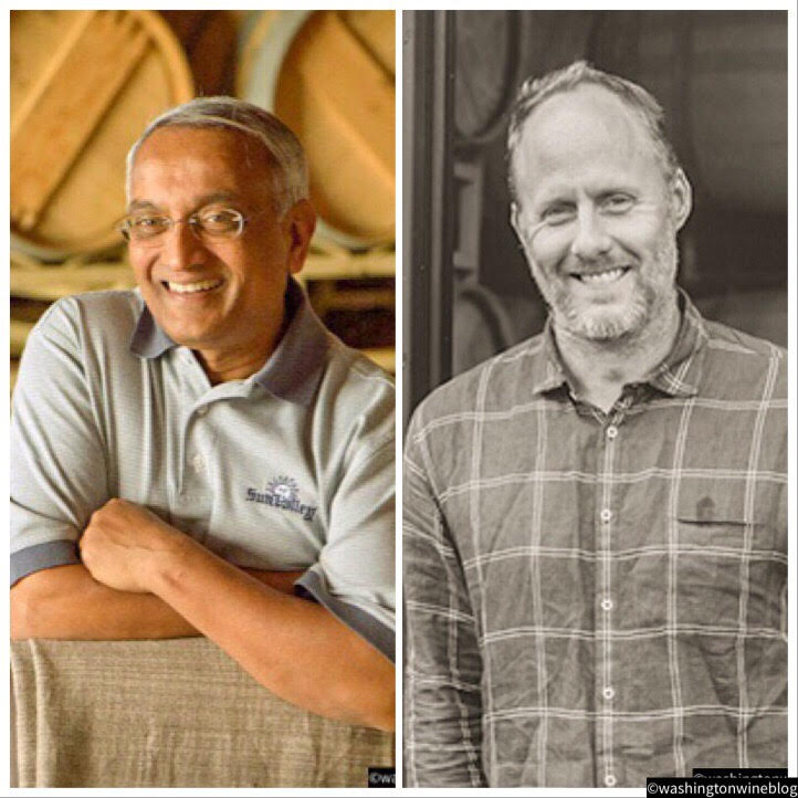 Great photo of Dr. Revana (L) and his winemaker, Thomas Brown (R).