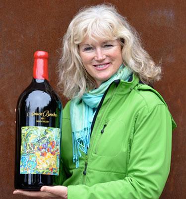 Great photo here of eminent Napa vintner, Heidi Barrett
