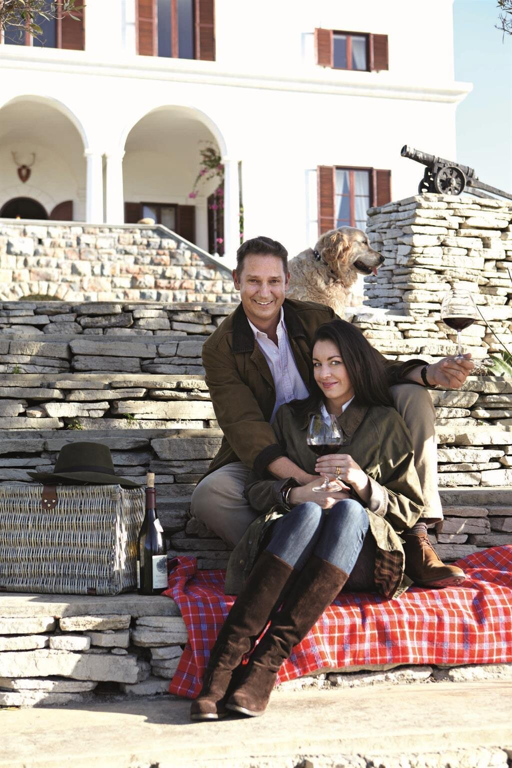Great photo of Anthony and Olive Hamilton Russell, proprietors of one of South Africa's finest wineries.