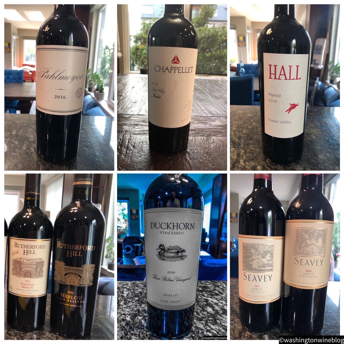 Pictured are a few of the sensational new release Merlots out of Napa.
