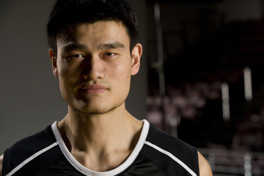 Great photo here of NBA legend, Yao Ming.