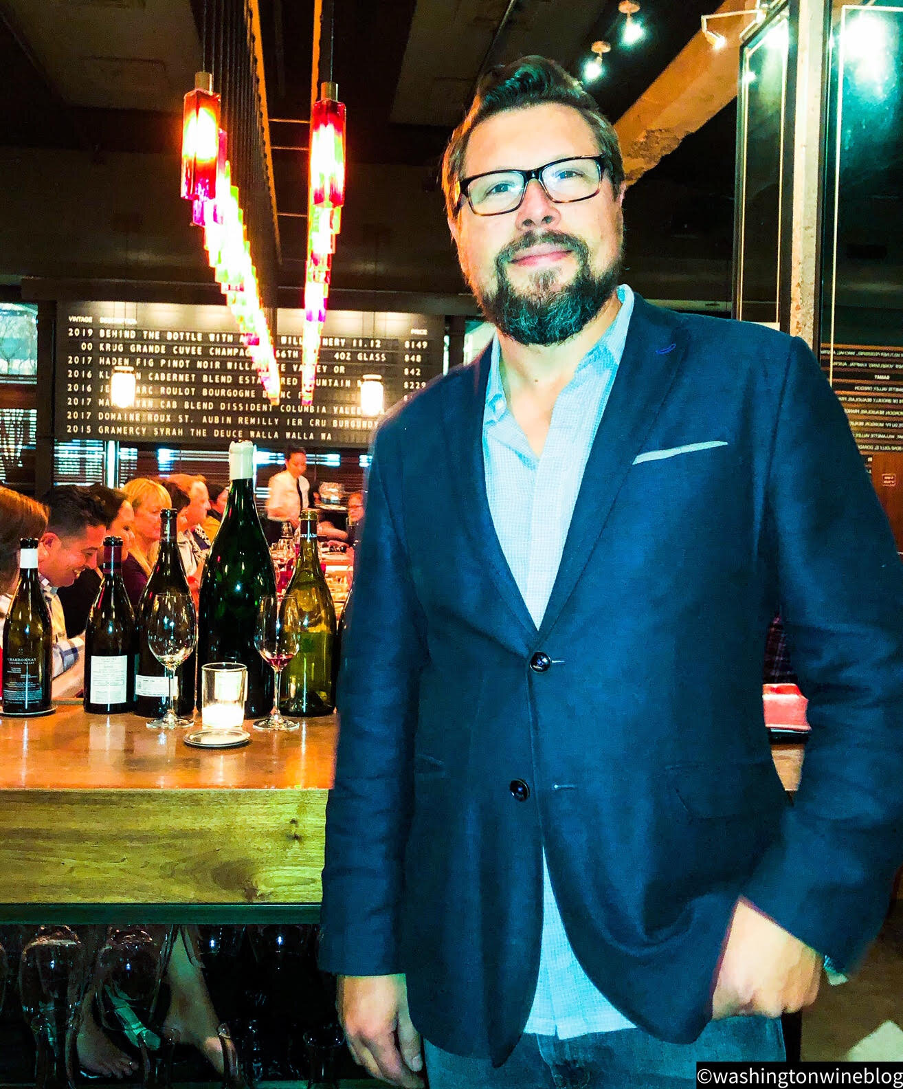 Great photo here of one of the outstanding wine directors in the Pacific Northwest, advanced sommelier and winemaker extraordinaire, Jeff Lindsay-Thorsen.