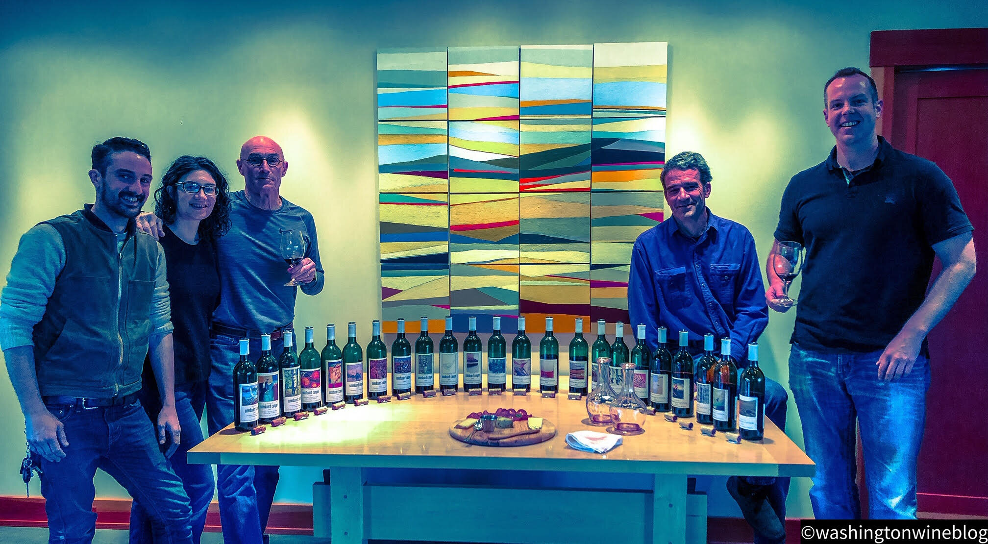 It was a magical afternoon reviewing nearly every vintage of Woodward Canyon 'Artist Series' Cabernet Sauvignon with the Small family and winemaker Kevin Mott.