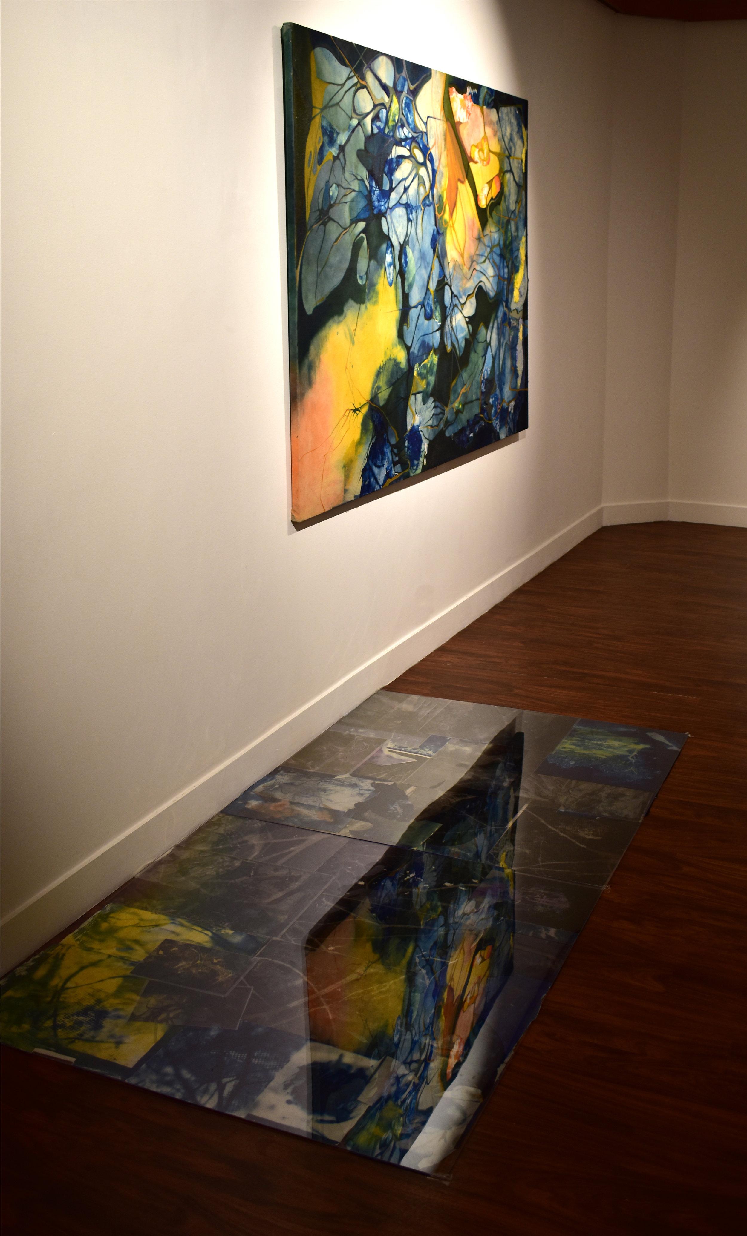 Ondes,  installation, solo exhibition  How to Capture Flow,  Fondation des Etats-Unis, Paris, France, 01/2019