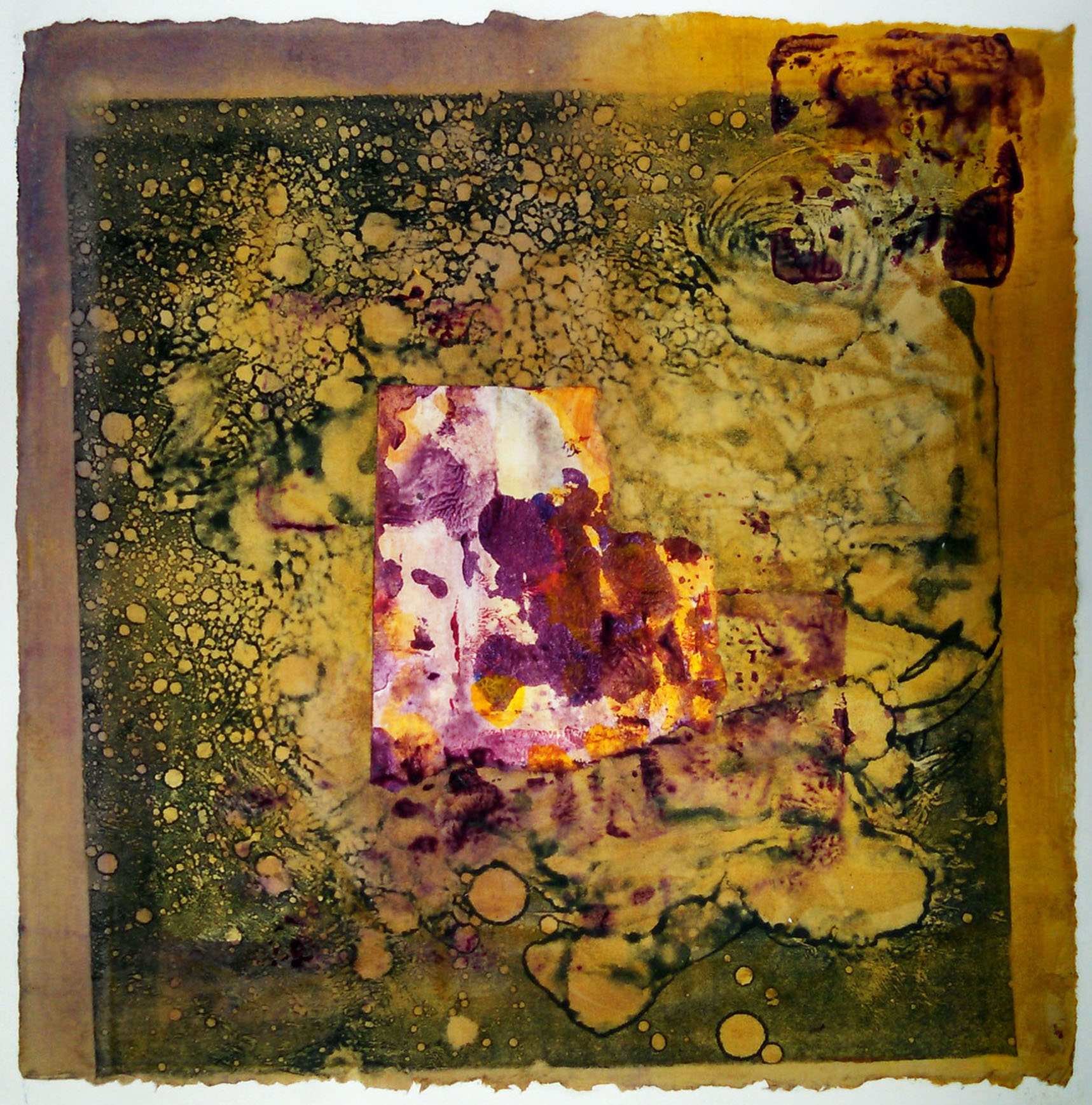 "Cosmos Fragment No. 1,  2014, monotype, 10"" x 10"" (25cm x 25cm)"