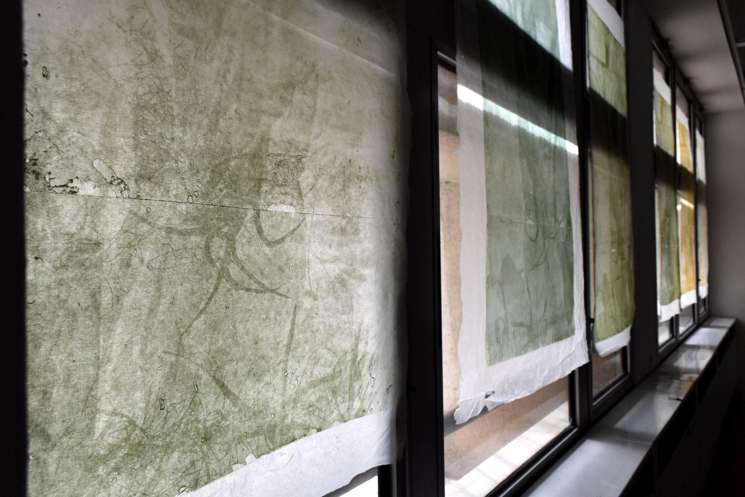 Interlaced, No. 1-6,  installation shot, Le 6b, Saint-Denis, France, 2019