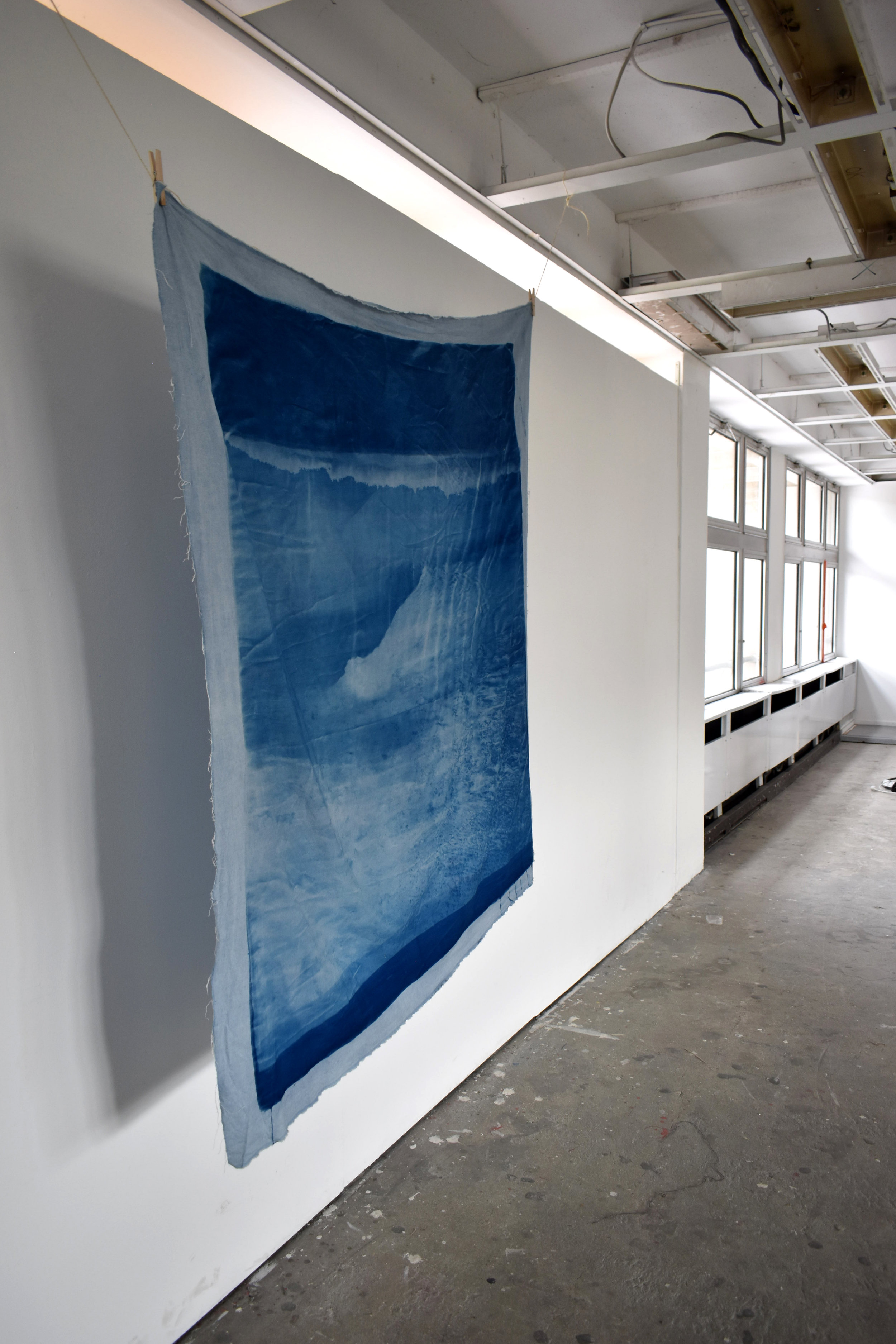 Over and Under (Whirlpool), No. 1,  2019., installation shot, Le 6b, Saint-Denis, France