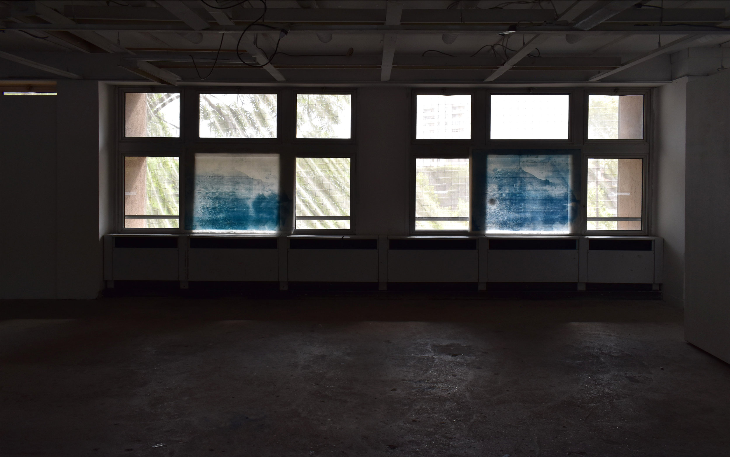 Over and Under (Whirlpool),  No. 3-4, Installation shot at Le 6b, Saint-Denis, France.