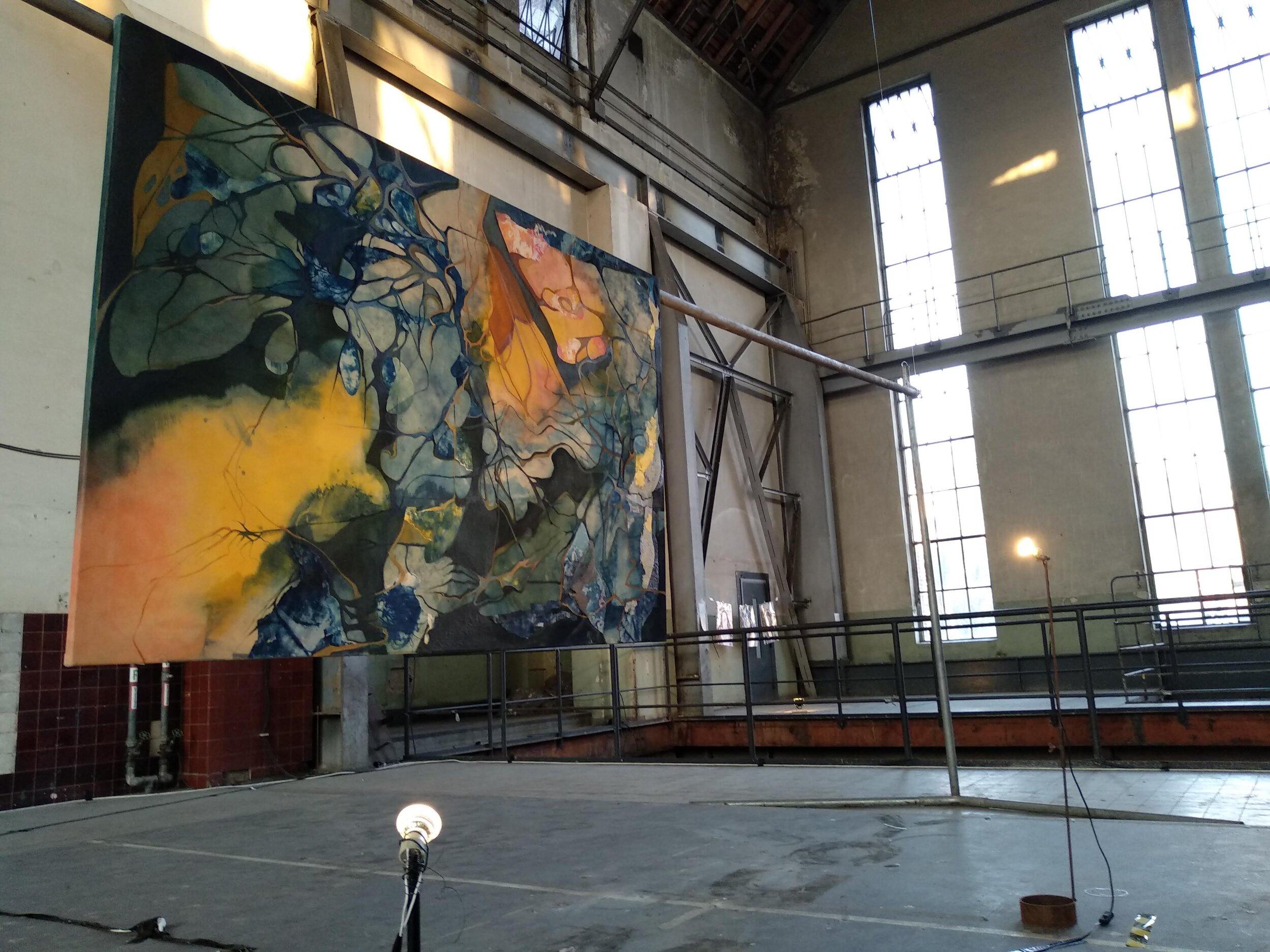 Ondes,  installation shot, exhibition  Edge: Blurring the Borders Between Art and Neuroscience,  Heizkraftwerk, Steglitz, Berlin, Germany, July 2019