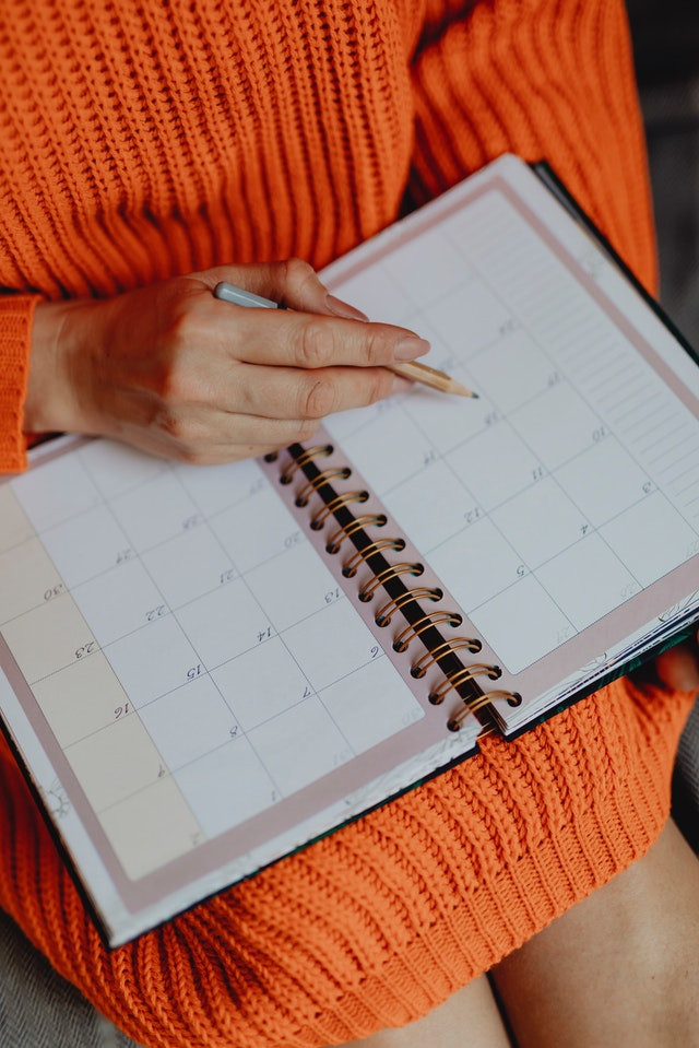 Putting a calendar to work for you will relieve stress and keep you on schedule.