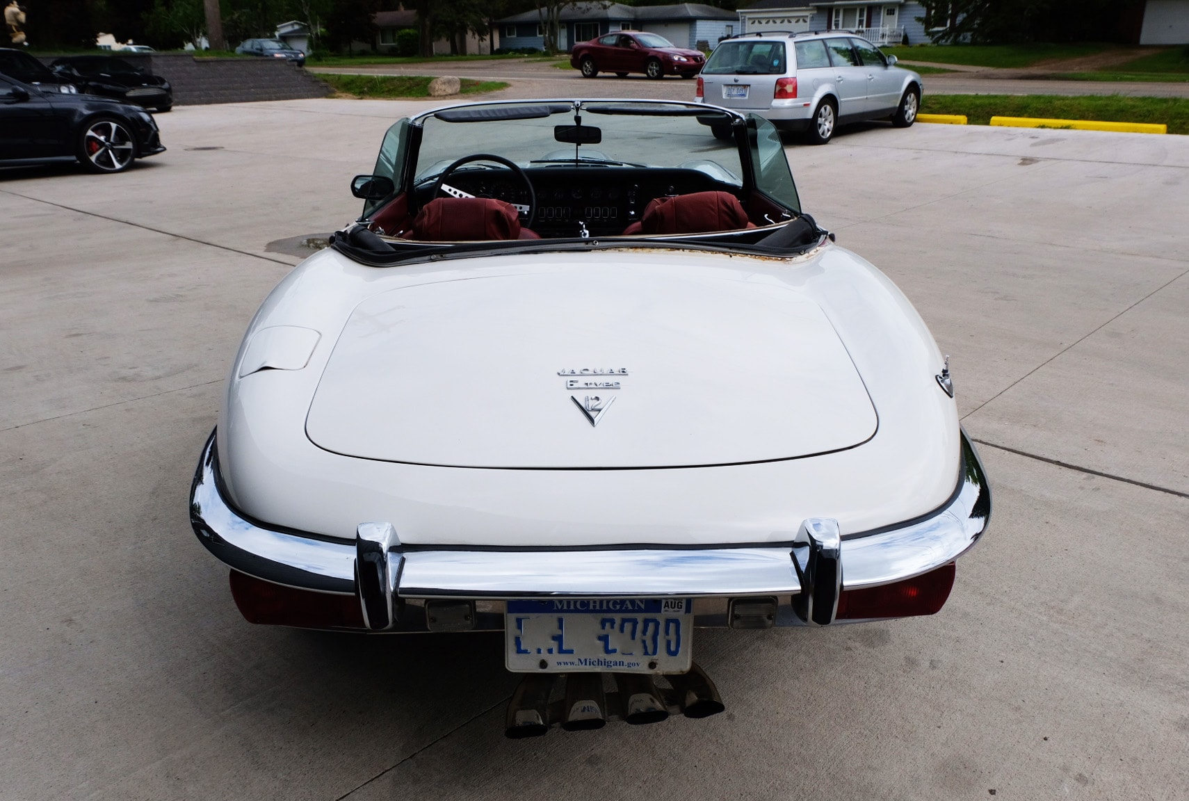 1972 Jaguar XKE Convertible Back White.JPG