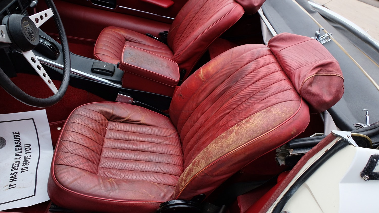 1972 Jaguar XKE Convertible Interior.JPG