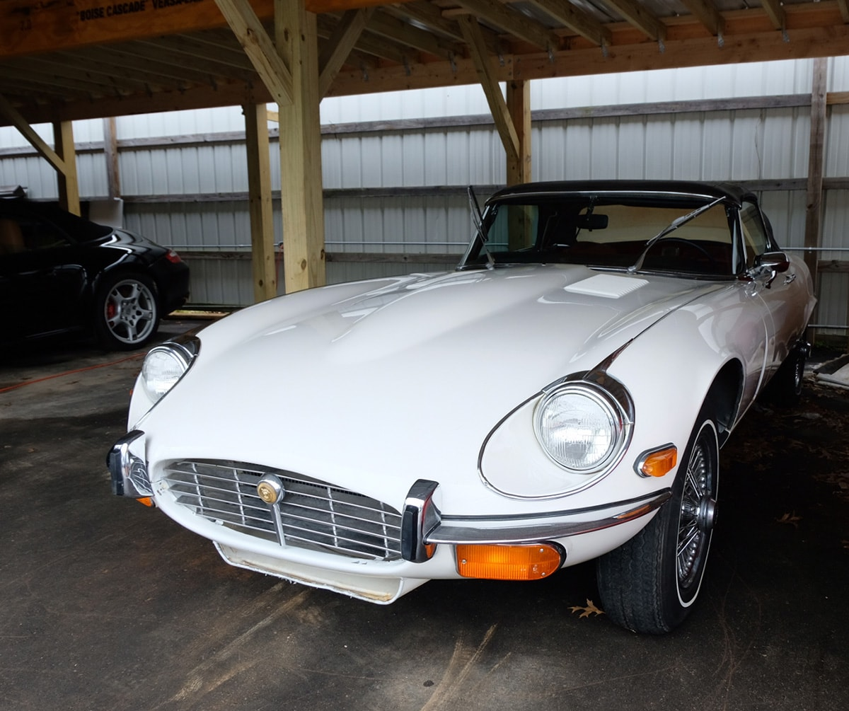 1972 Jaguar XKE Convertible White.jpg