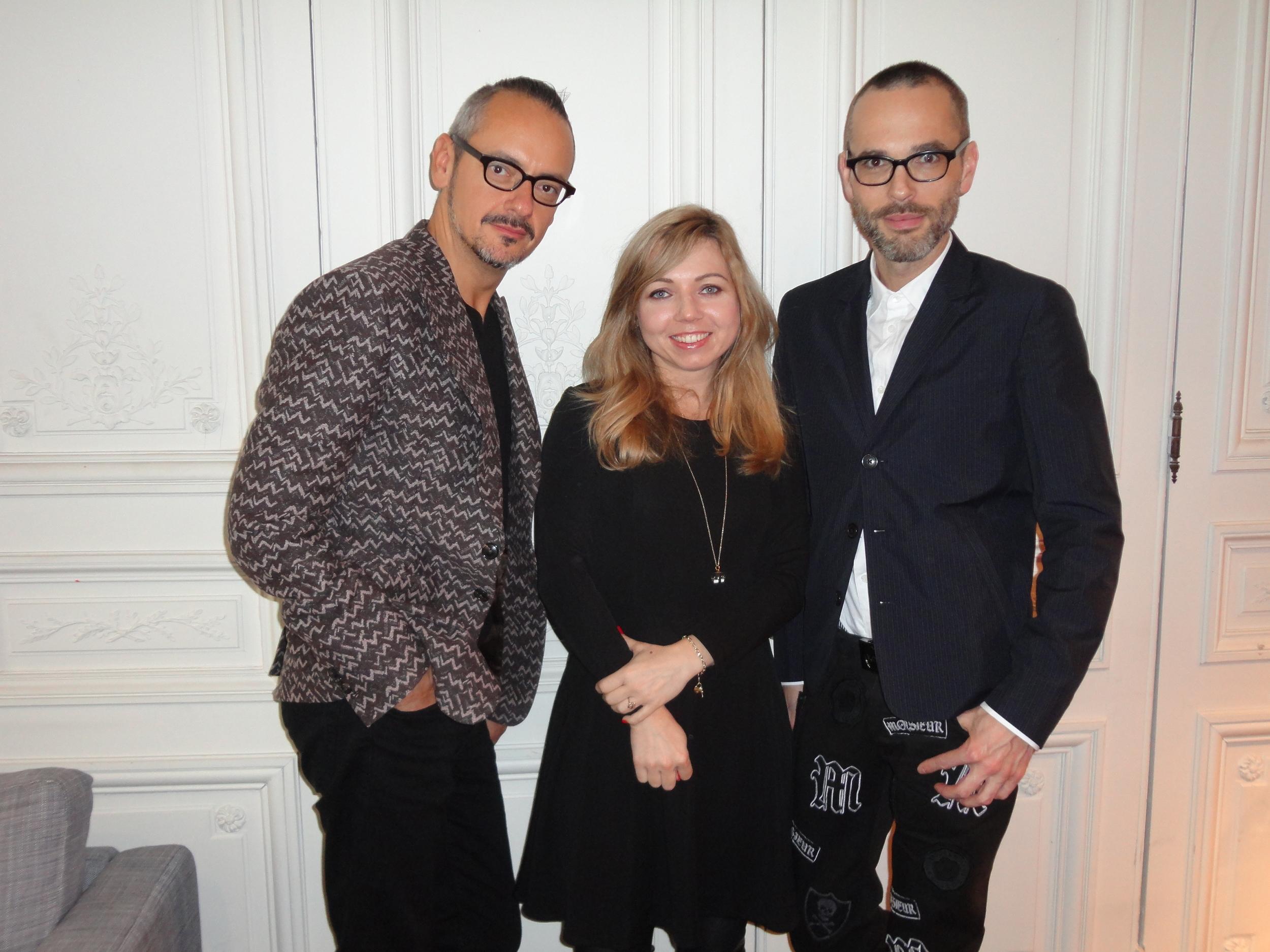 Anna with Viktor & Rolf