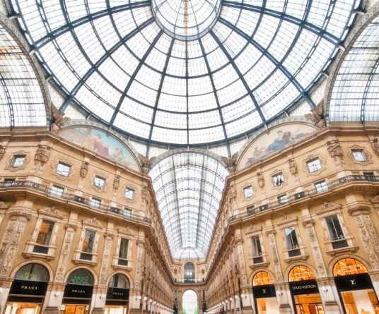 Luxury shopping galleria La Rinascente Milano