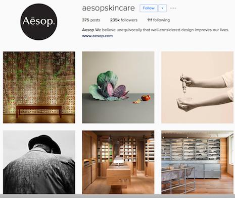The Aesop Skincare effort