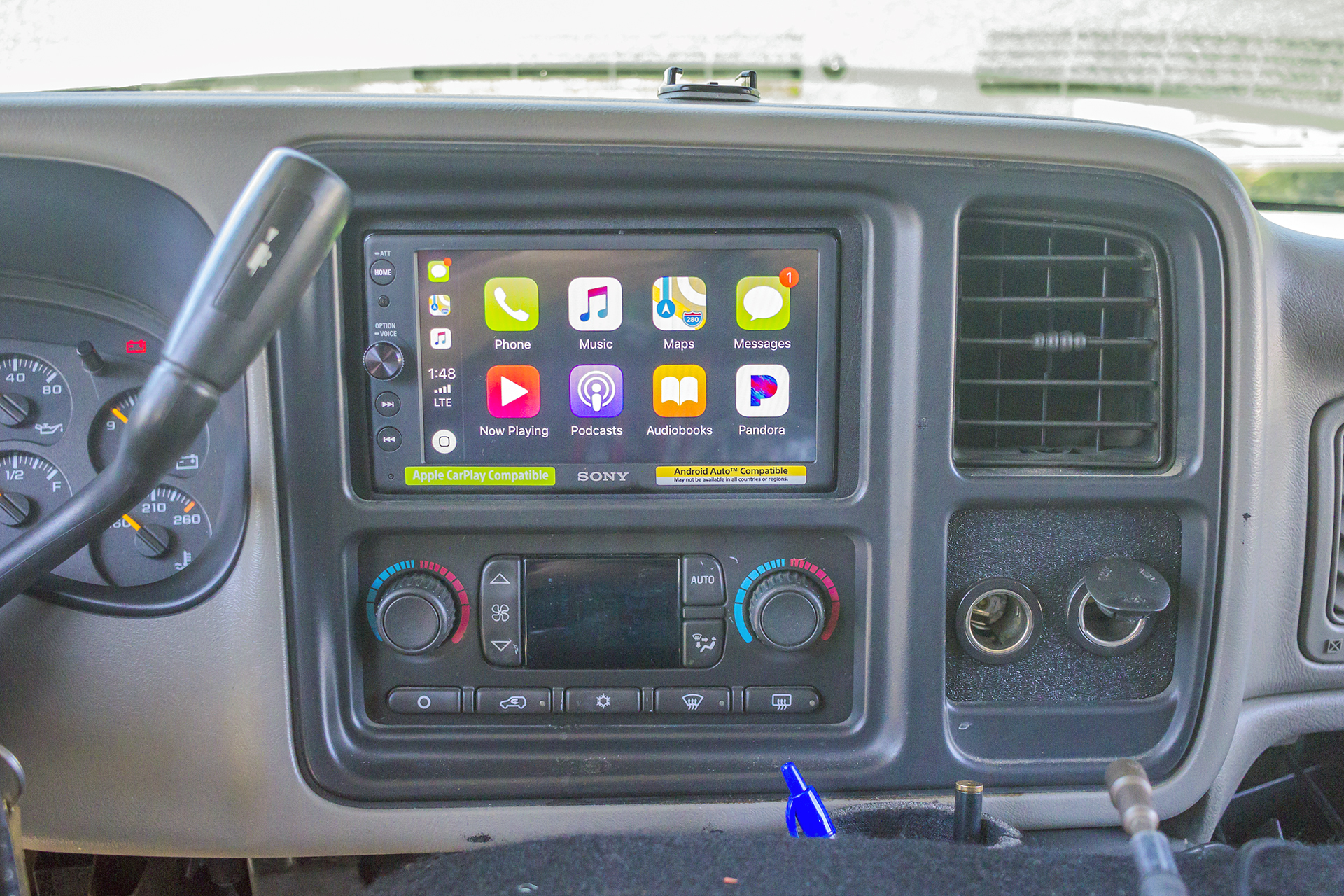This 2004 Chevy Silverado gets an updated radio with Apple ...