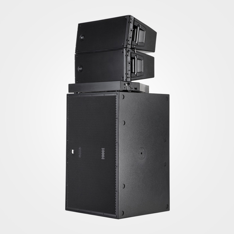 "Arrangement 2 -  4 x RCF HDL20A / 18"" Subs - Suitable for all applications and catering for up to 500 people, suitable for live venues and night clubs."