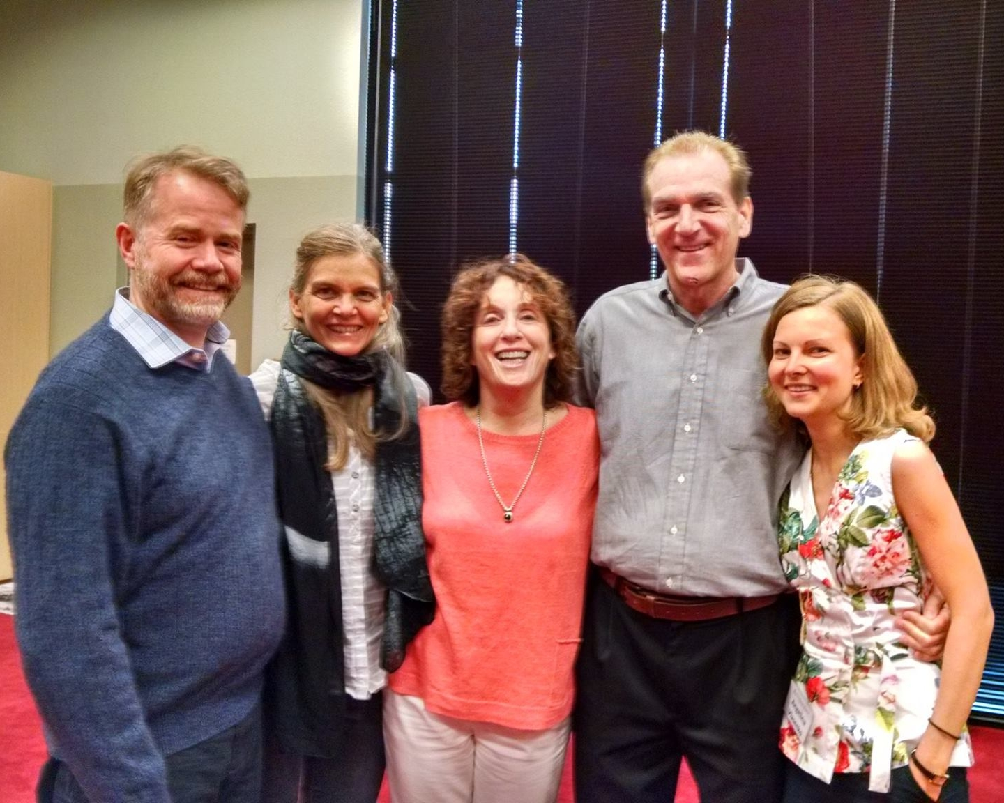 Neil Sharp, Birgit Jung-Schmitt, Anat Baniel, JR Smith, Angelina Vlasenko. Celebrating Graduation from the Anat Baniel Method NeuroMovement Professional Training.