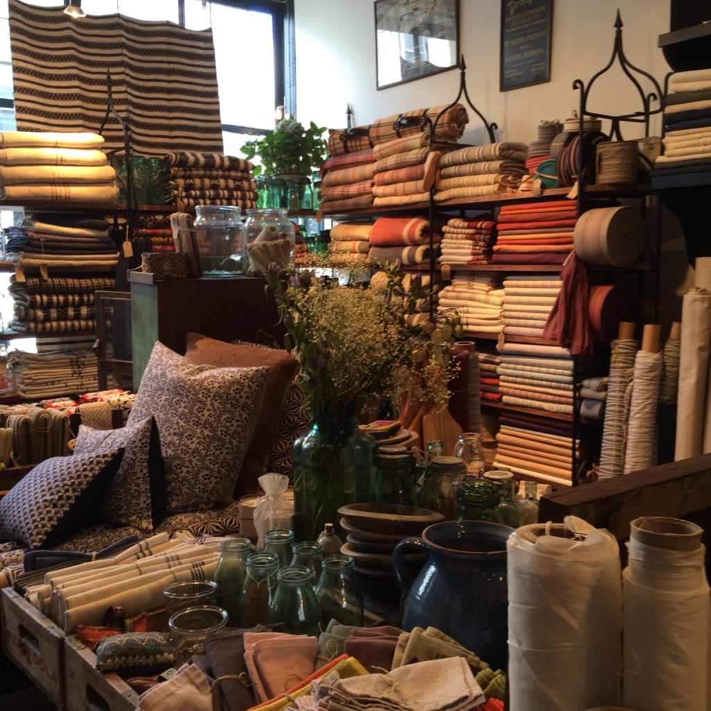 Wonderful collection of odds & ends amidst the fabrics