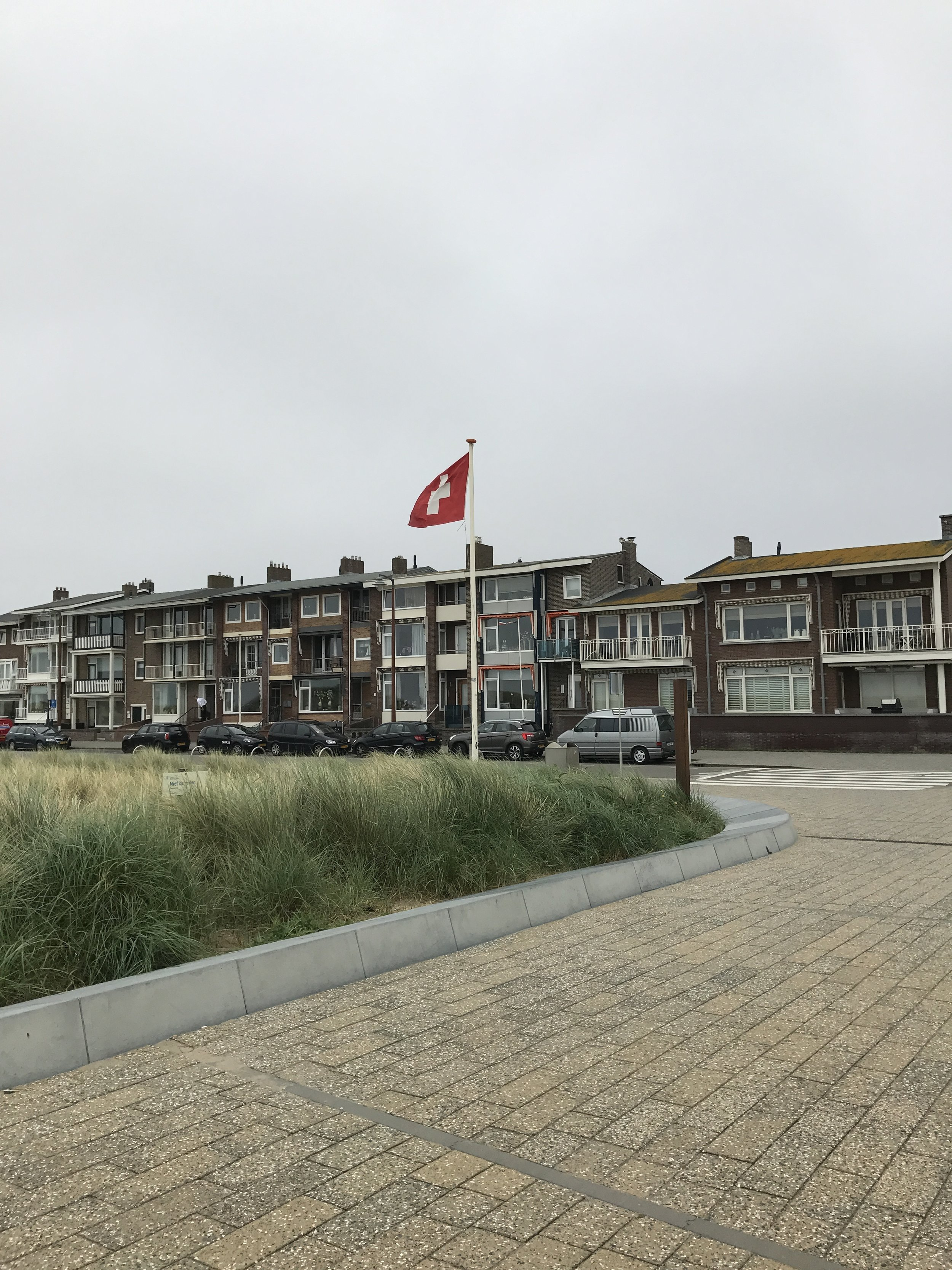 Arriving at the township of Katwijk-aan-Zee.