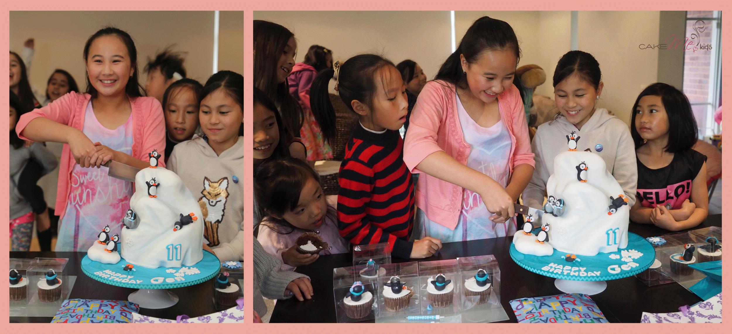 penguin iceberg cake me kids party