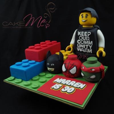 Cake Me! Superhero Lego Cake