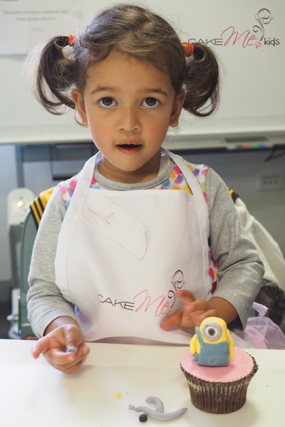 One of the youngest of the kids having a great time sugar sculpting