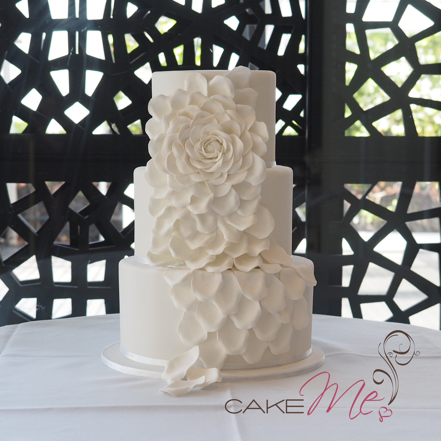 Farzeen and Matt's wedding cake at The Deck, Prince Hotel.